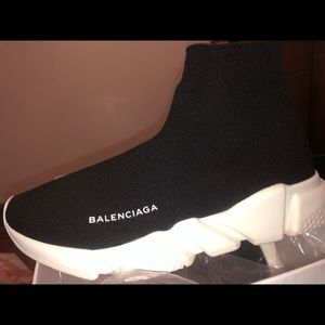Balenciaga Black And Burgundy Track Sneakers GOXiP